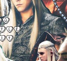 thranduil collage Sticker