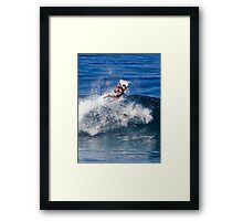 Bodyboarder At Banzai Pipeline 2011 Framed Print