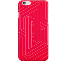 Modern minimal Line Art / Geometric Optical Illusion - Red Version  iPhone Case/Skin