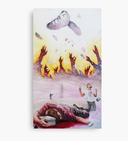 spilling Our Blood Canvas Print