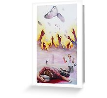 spilling Our Blood Greeting Card