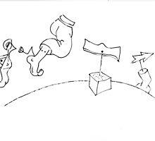 Petits Dessins Debiles - Small Weak Drawings#32 by Pascale Baud