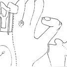Petits Dessins Debiles - Small Weak Drawings#33 by Pascale Baud