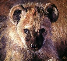 Spotted Hyena Cub by Angela Drysdale