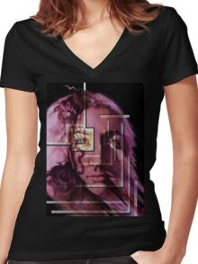 Through the Eyes Of A Photographer Women's Fitted V-Neck T-Shirt