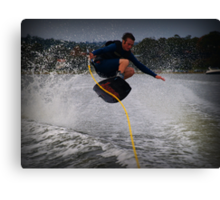 Jumping the wake Canvas Print