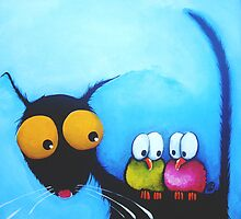 Stressie Cat and the Whimsical Birds by StressieCat
