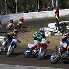 Seniors racing at Taree N.S.W. Australia . by Heabar