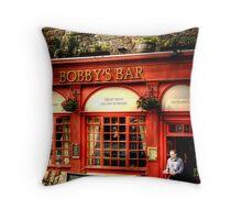 Bobby's Waiter Throw Pillow
