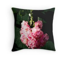 Flower in green Throw Pillow