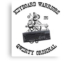 Keyboard Warriors – Internet Troll Club Canvas Print