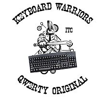 Keyboard Warriors – Internet Troll Club Photographic Print