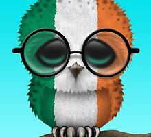 Nerdy Irish Baby Owl on a Branch by Jeff Bartels