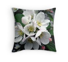 Apple Blossom Cluster Throw Pillow