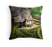 Cottage in the gardens Throw Pillow