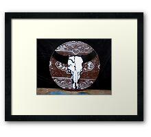 Stencil Skull on Vinyl Framed Print