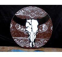 Stencil Skull on Vinyl Photographic Print