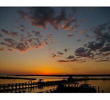 Back Bay Sunset Photographic Print