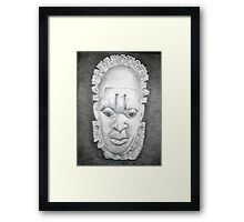 Oba Mask - Centered Framed Print