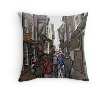shambles crowd Throw Pillow