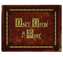 Once Upon A Time, Book Photographic Print