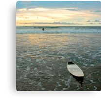 Playa Tamarindo Surf and Sunset Canvas Print