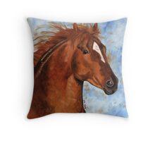 Chestnut Quarter Horse Throw Pillow