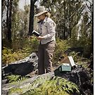 Sketching in the regrowth forest Tasmania by HelenAmyes