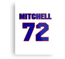 National football player Mitchell Schwartz jersey 72 Metal Print