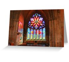 Pentecost Stained Glass Greeting Card