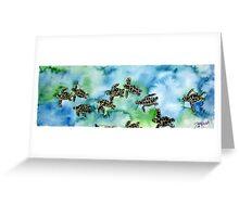 Baby Sea Turtles Painting Greeting Card