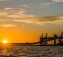 Kwinana Grain Terminal Jetty by Mark  Nangle