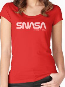 SNASA (Secret NASA Typography) Women's Fitted Scoop T-Shirt