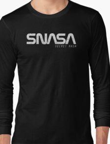 SNASA (Secret NASA Typography) Long Sleeve T-Shirt