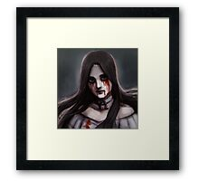 hysteria mode - blood Framed Print