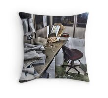 laundry office Throw Pillow