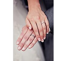 Bride & Groom ... Wedding Rings Photographic Print