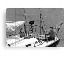 Close-up of Yacht near Lymington Canvas Print