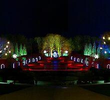 Alnwick Gardens Panoramic by Thomas Gelder