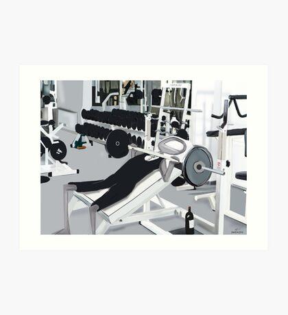 Corky @ the Gym Art Print