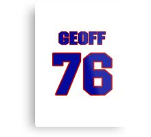 National football player Geoff Schwartz jersey 76 Metal Print