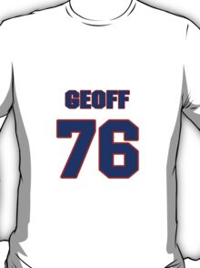 National football player Geoff Schwartz jersey 76 T-Shirt