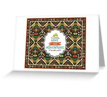 Navajo seamless colorful tribal pattern Greeting Card