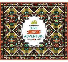 Navajo seamless colorful tribal pattern Photographic Print