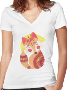 The Little Wolf Women's Fitted V-Neck T-Shirt