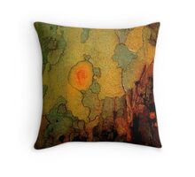 Primitive Village Throw Pillow