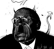 "Mugabe, ""Dictatorship Down"" by meastbrook"