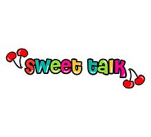 Sweet Talk, cherry quotes by Tee Brain Creative