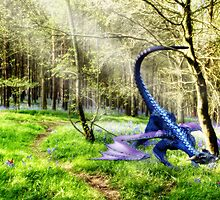 Woodland Dragon - a collaboration with Sarah Moore by John Edwards