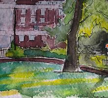 Painting of Newington Green by Richmondie